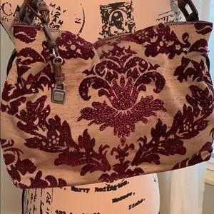 Liz Claiborne tapestry and bead purse. EUC